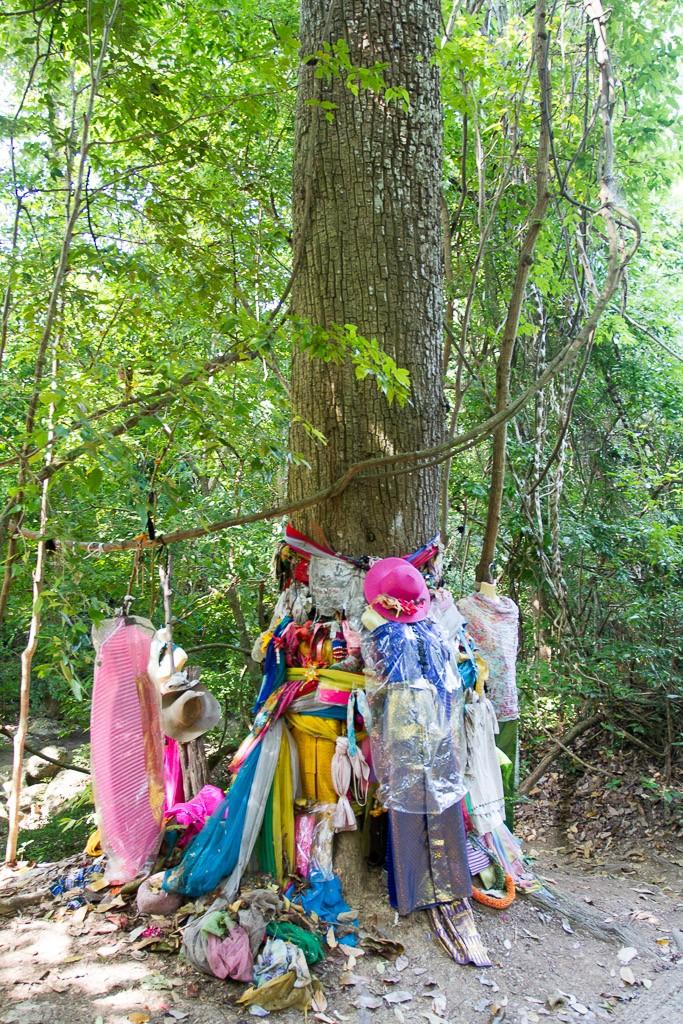 Offerings @ Erawan Falls, Kanchanaburi region, Thailand