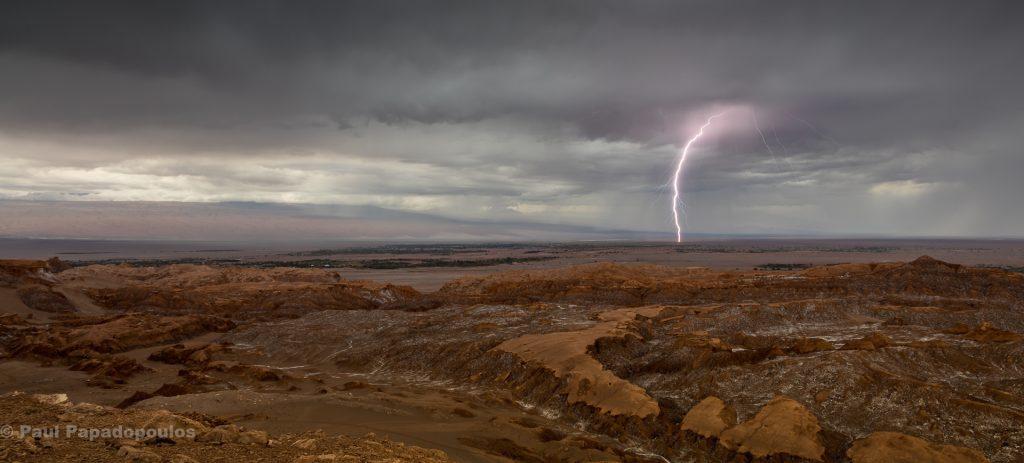 Desert Fire - Lightning on the Atacama Desert, San Pedro de Atacama, Chile